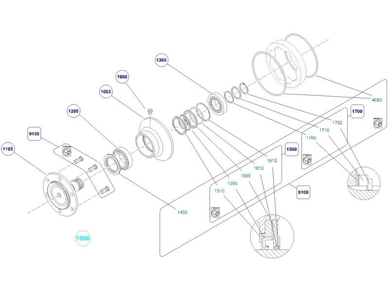 Manutenção motor hidráulico