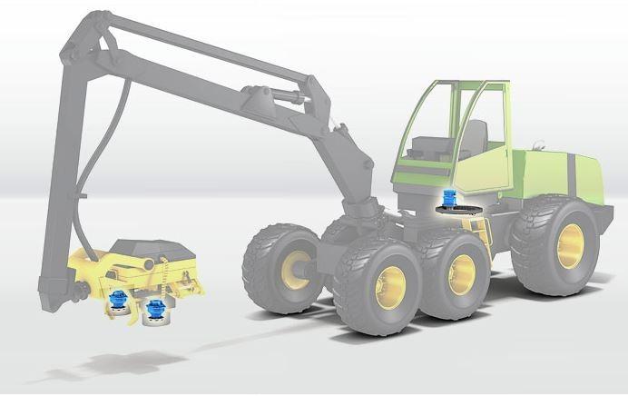 Motor hidráulico florestal