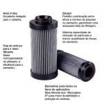 Elemento filtrante sistema hidráulico