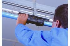 Tubo de alumínio azul para ar comprimido